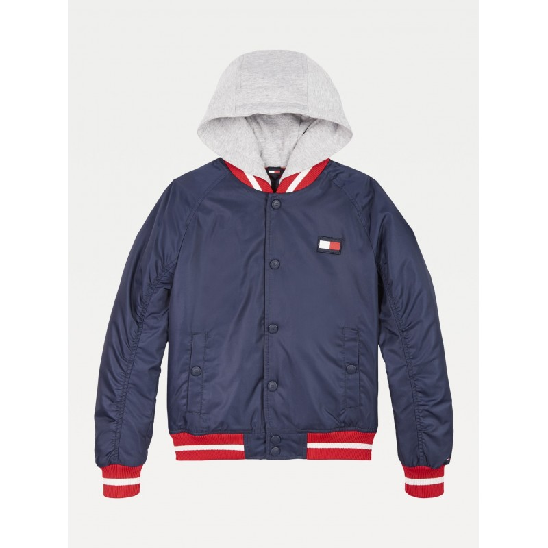 Tommy H. PADDED HOODED BOMBER