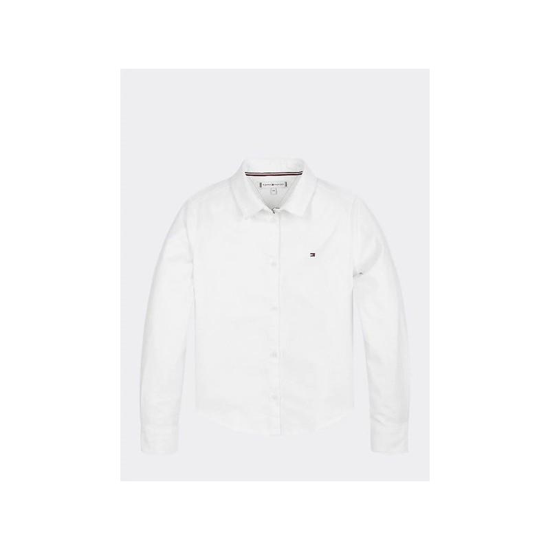 Tommy H. Camisa de manga larga en mezcla de algodón orgánico