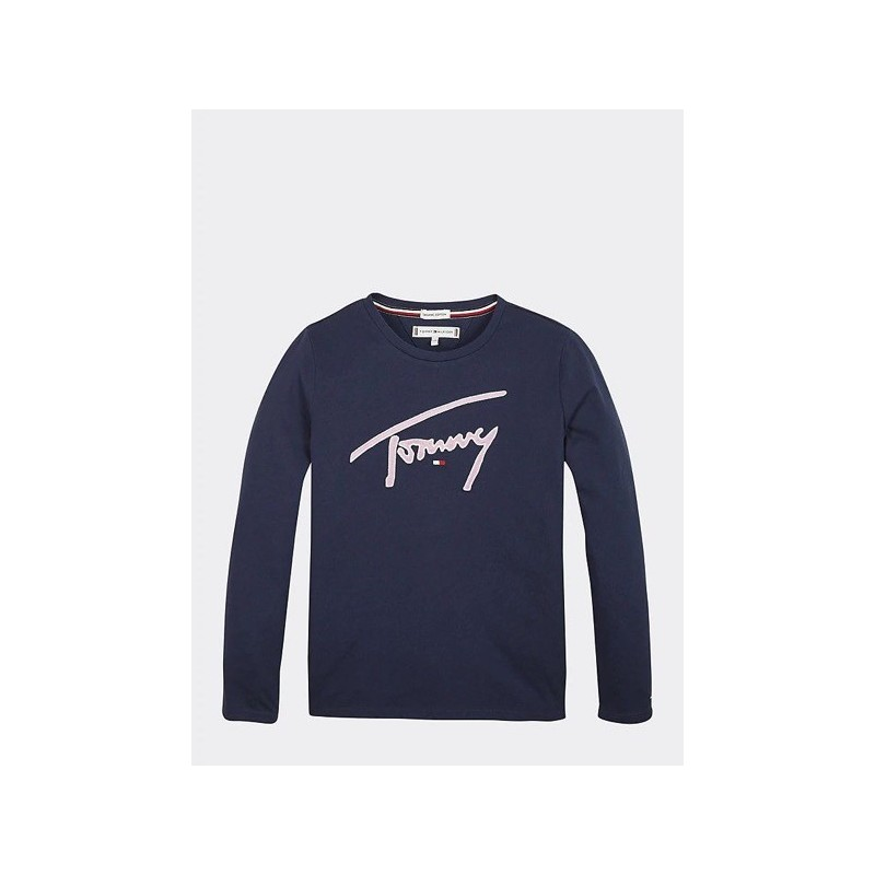 Tommy H. Camiseta de manga larga con logo