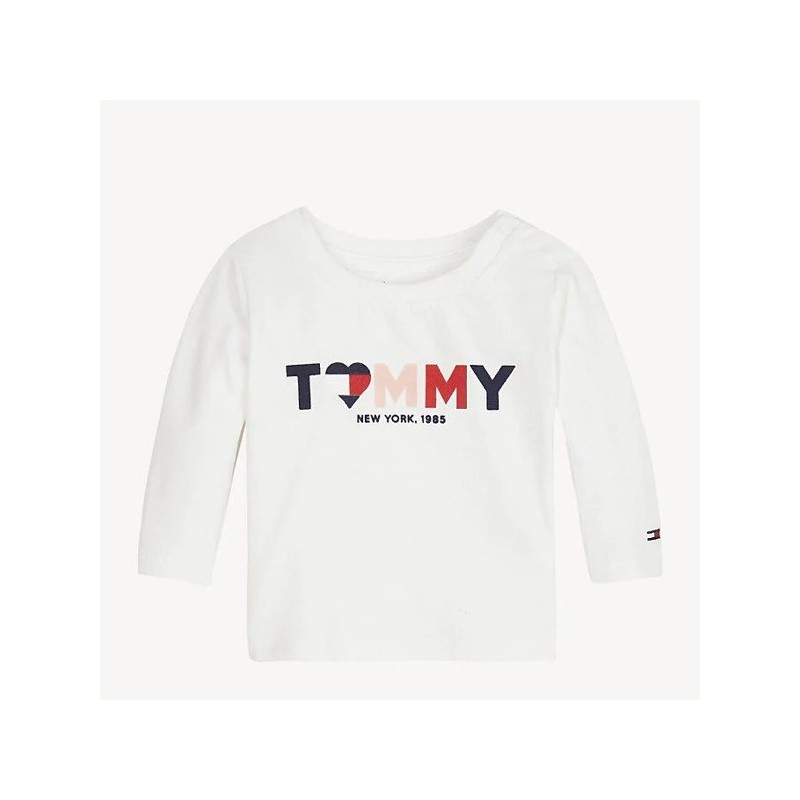 Tommy H. Camiseta de bebé niña con logo
