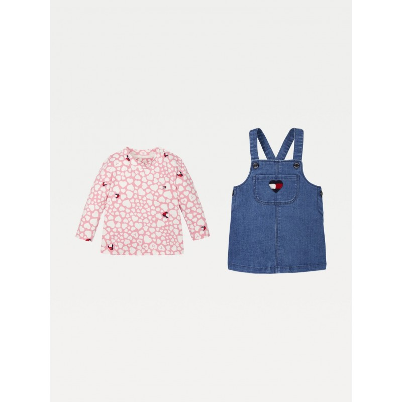 Tommy H. BABY GIRL DUNGAREE SET