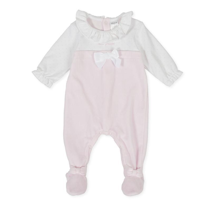 Tutto Piccolo - Pelele largo rosa con pie
