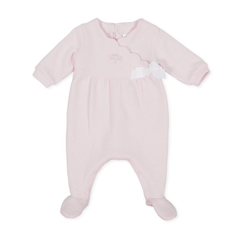 Tutto Piccolo - Pelele largo rosa de ondas con pie