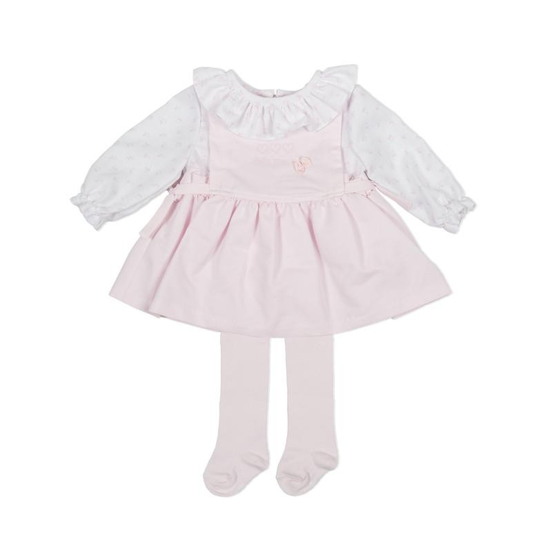 Tutto Piccolo - Vestido rosa con leotardos