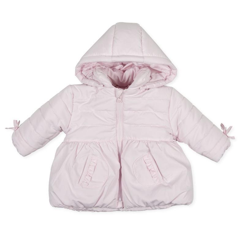 Tutto Piccolo - Parka rosa con capucha desmontable