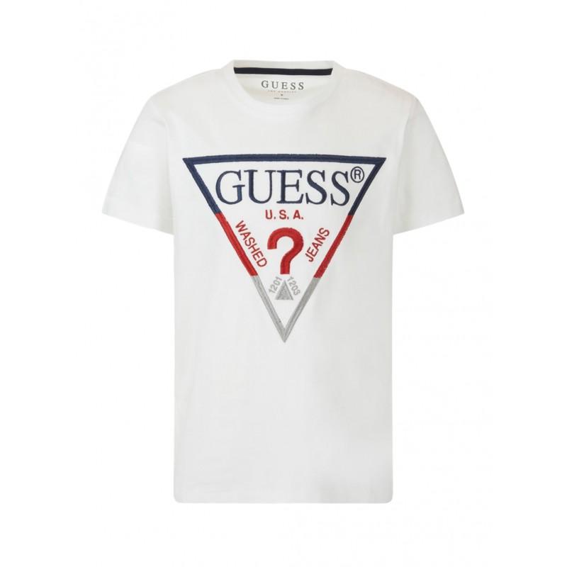 GUESS - Camiseta con estampado triángulo