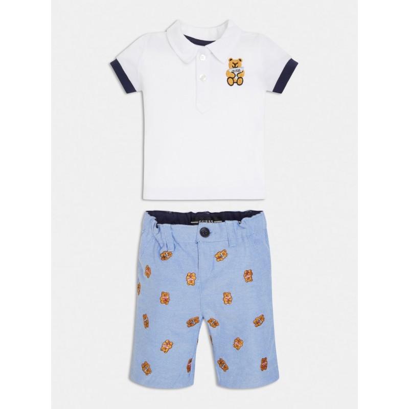 GUESS - Conjunto de Pantalón corto y Polo