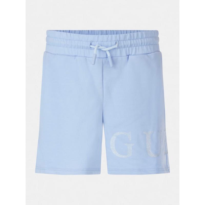 GUESS - Pantalón corto con estampado de purpurina