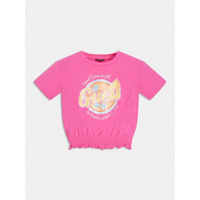 GUESS - Camiseta con bajo elástico