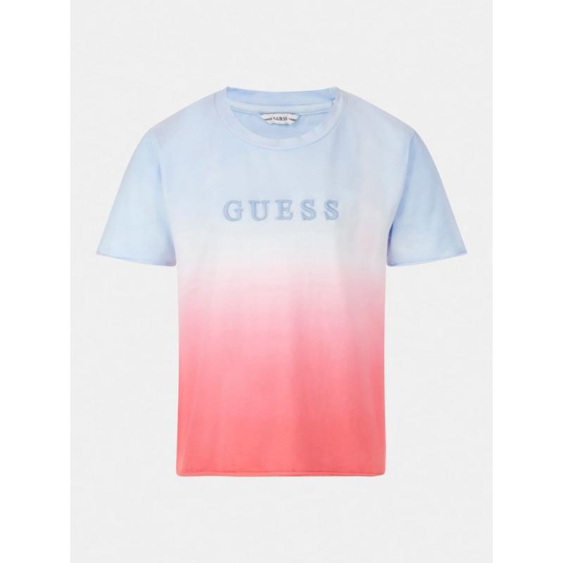 GUESS - Camiseta con degradado de color