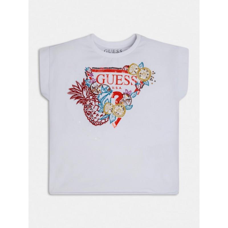 GUESS - Camiseta con logo de frutas