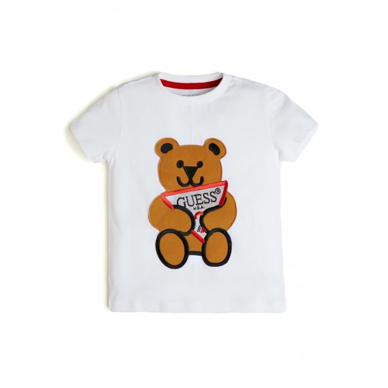 GUESS - Camiseta de oso bordada