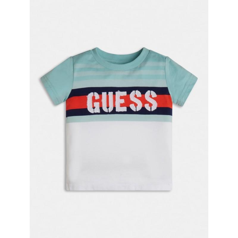GUESS - Camiseta con bordado de letra guess