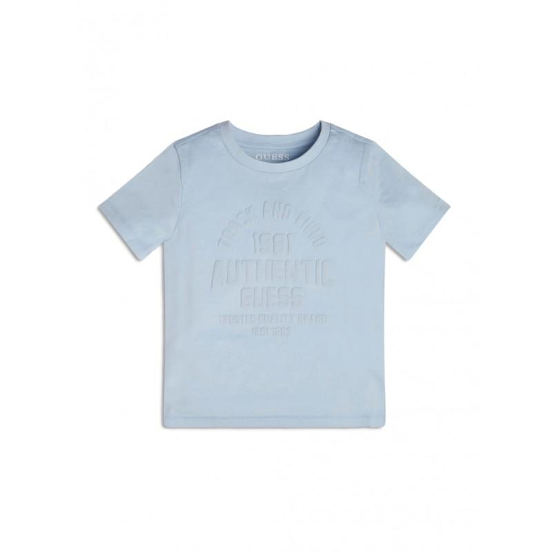 GUESS - Camiseta de manga corta celeste