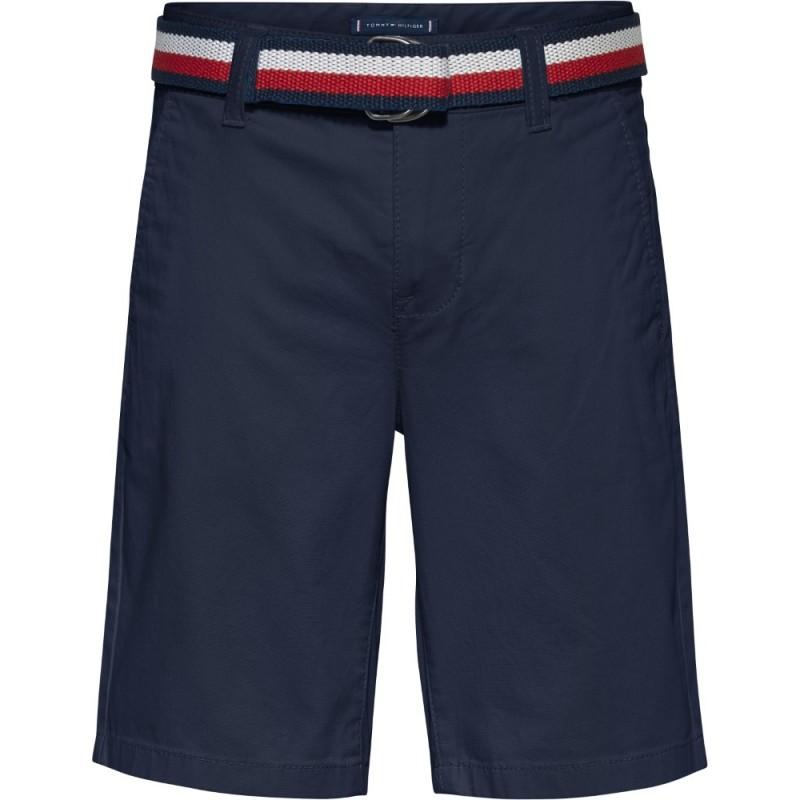 TOMMY H. - Pantalón corto chino con cinturón
