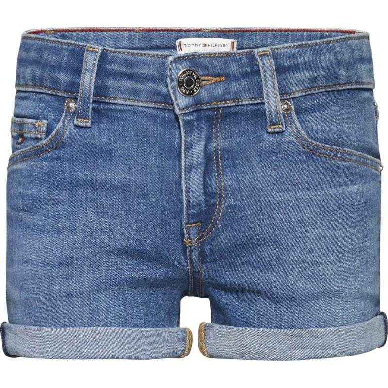 TOMMY H. - Pantalón corto vaquero con vuelta.
