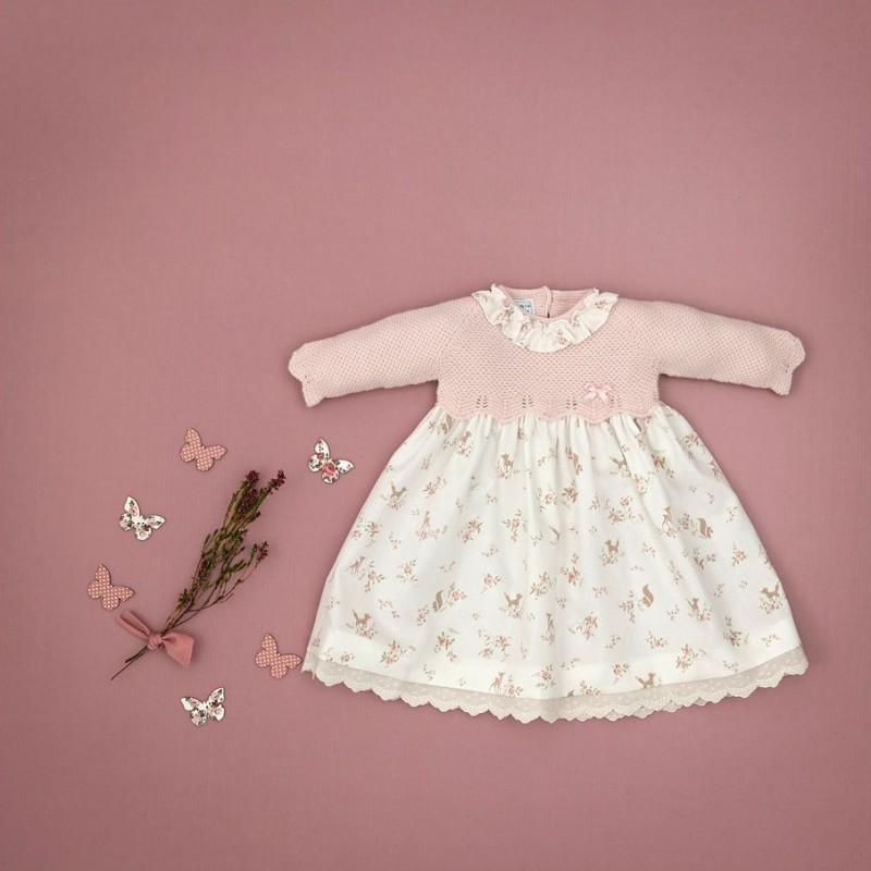 Carmen Taberner - Vestido rosa con Faldón de animales