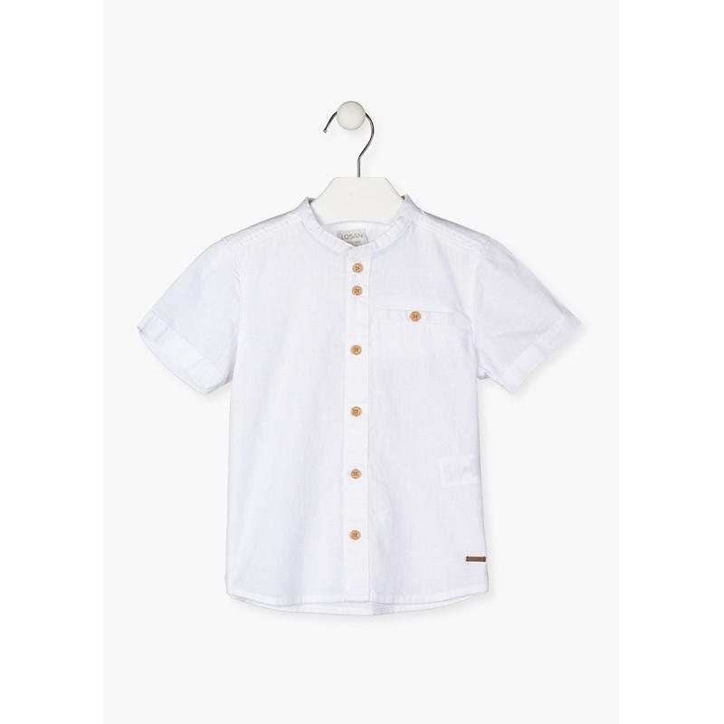 LOSAN - Camisa De Manga Corta De Lino
