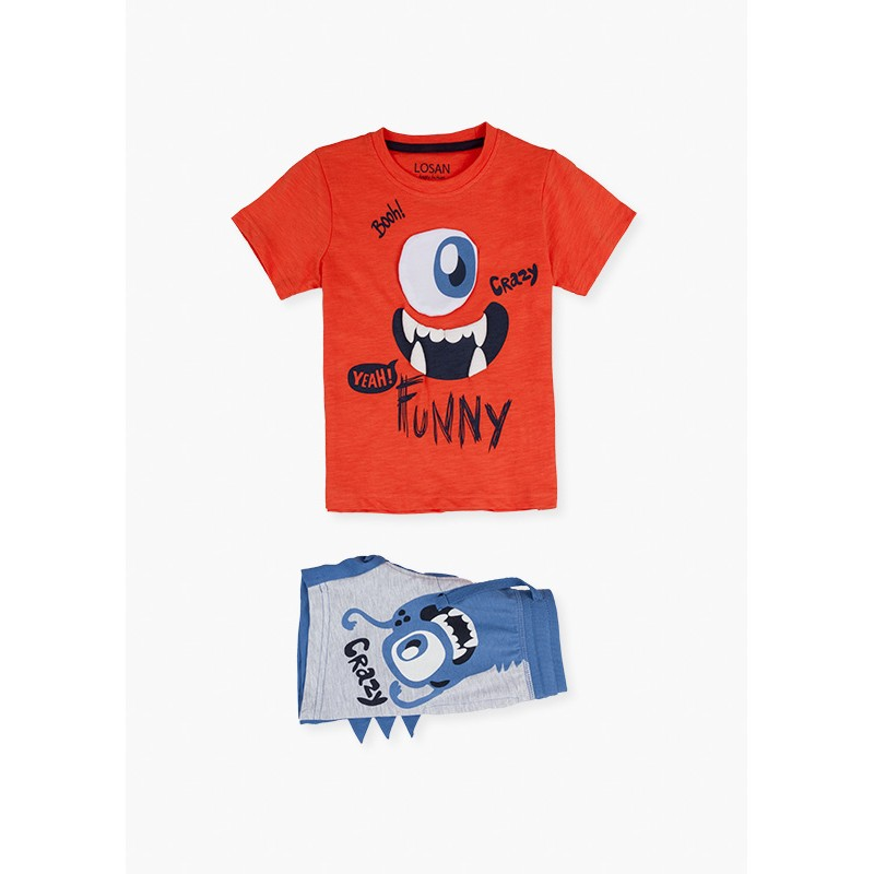 LOSAN - Conjunto Camiseta Manga Corta Y Bermuda