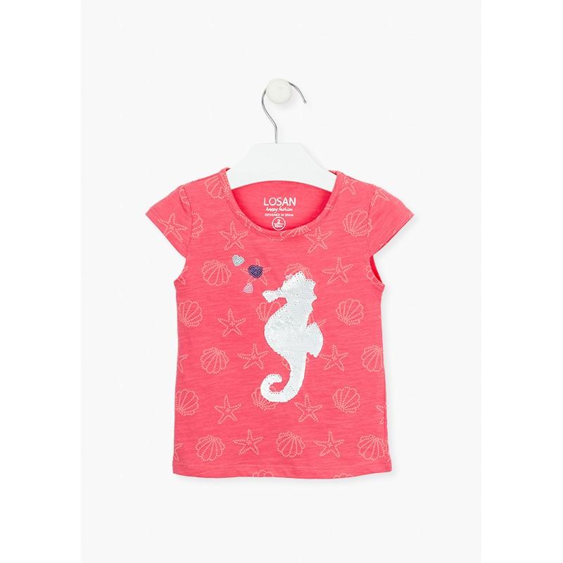 LOSAN - Camiseta Manga Corta caballo de mar