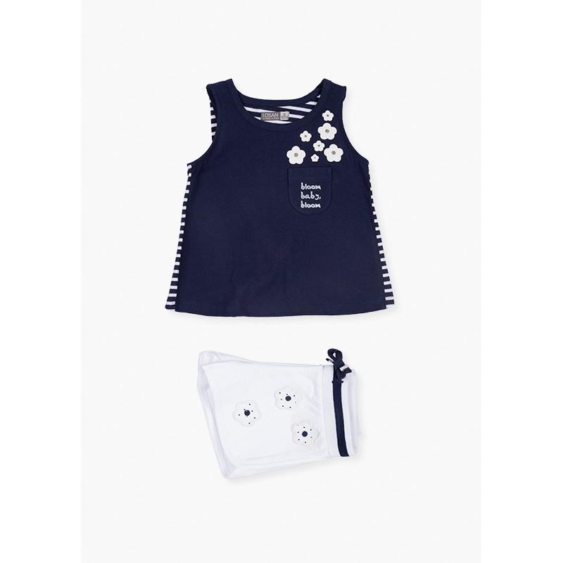 LOSAN - Conjunto De Camiseta Sin Mangas Y Short