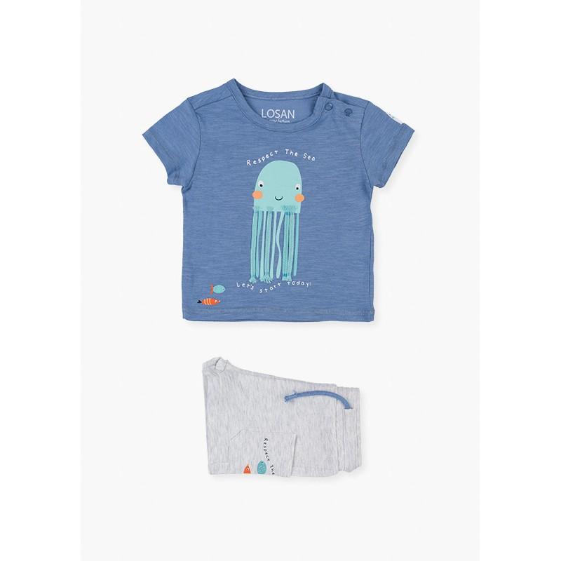 LOSAN - Conjunto De Camiseta Medusa Y Bermuda