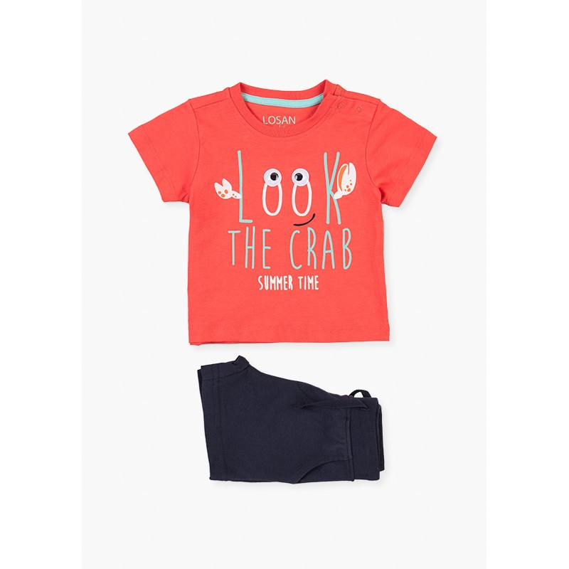 LOSAN - Conjunto Camiseta Ojos Y Bermuda