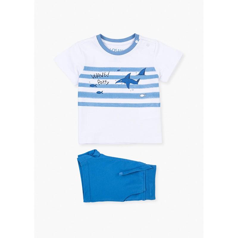 LOSAN - Conjunto Camiseta Tiburón Y Bermuda
