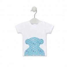 Tommy H. Camisa estampada de algodón dobby