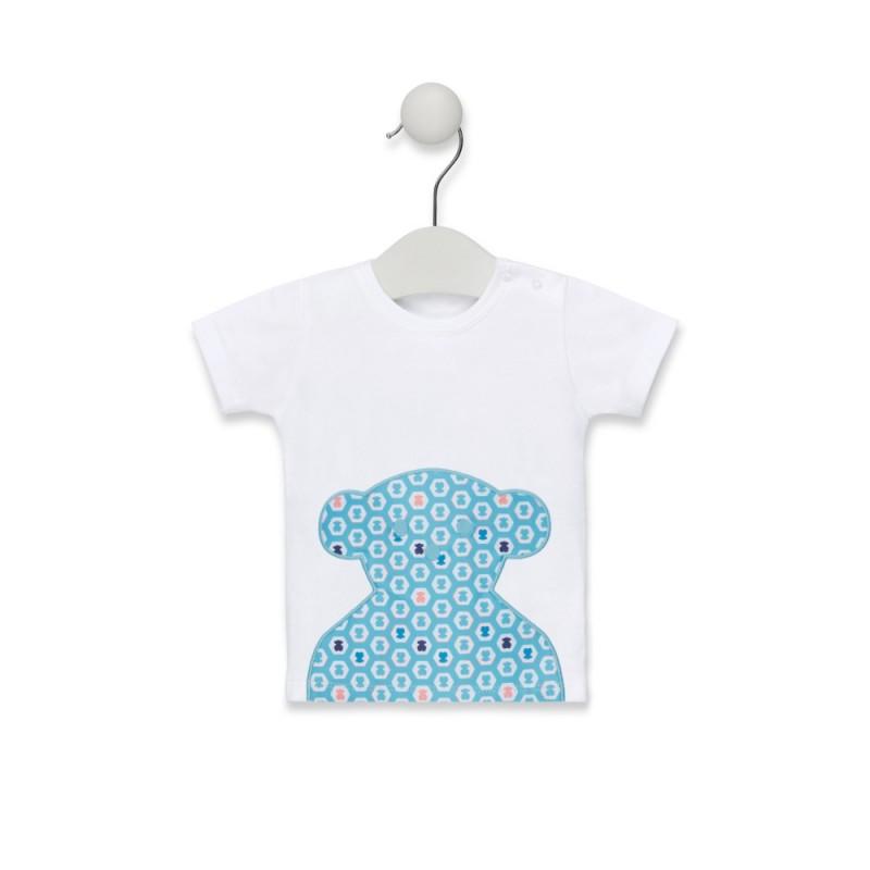 TOUS - Camiseta M/C playa aplicación oso central Exagon