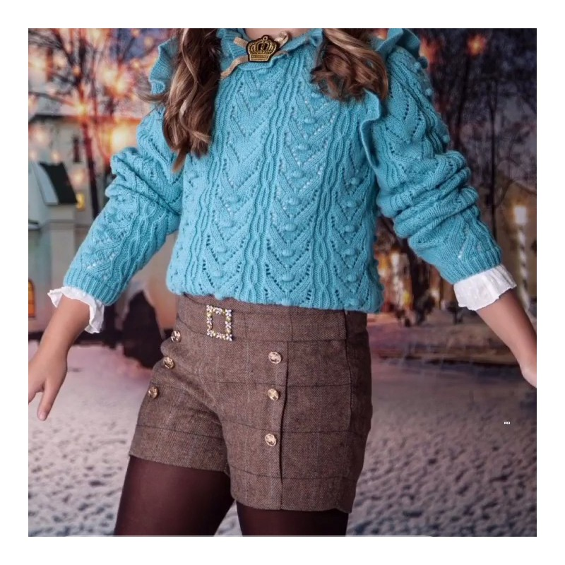 Kauli - Pantalón corto marrón