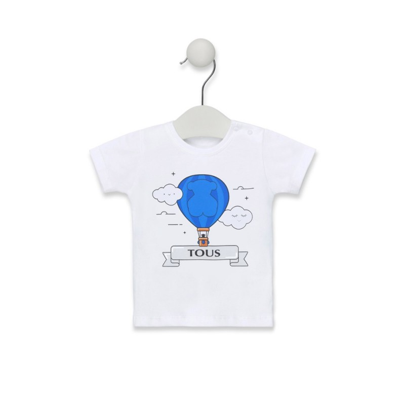 TOUS - Camiseta M/C de playa estampado central Globo