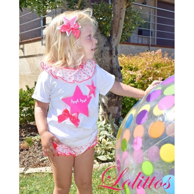 LOLITTOS - Camiseta BB+Cubre Pink