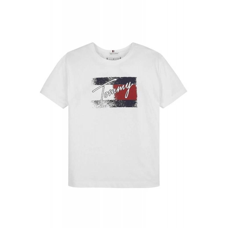 TOMMY H. - Camiseta bandera efecto desteñido