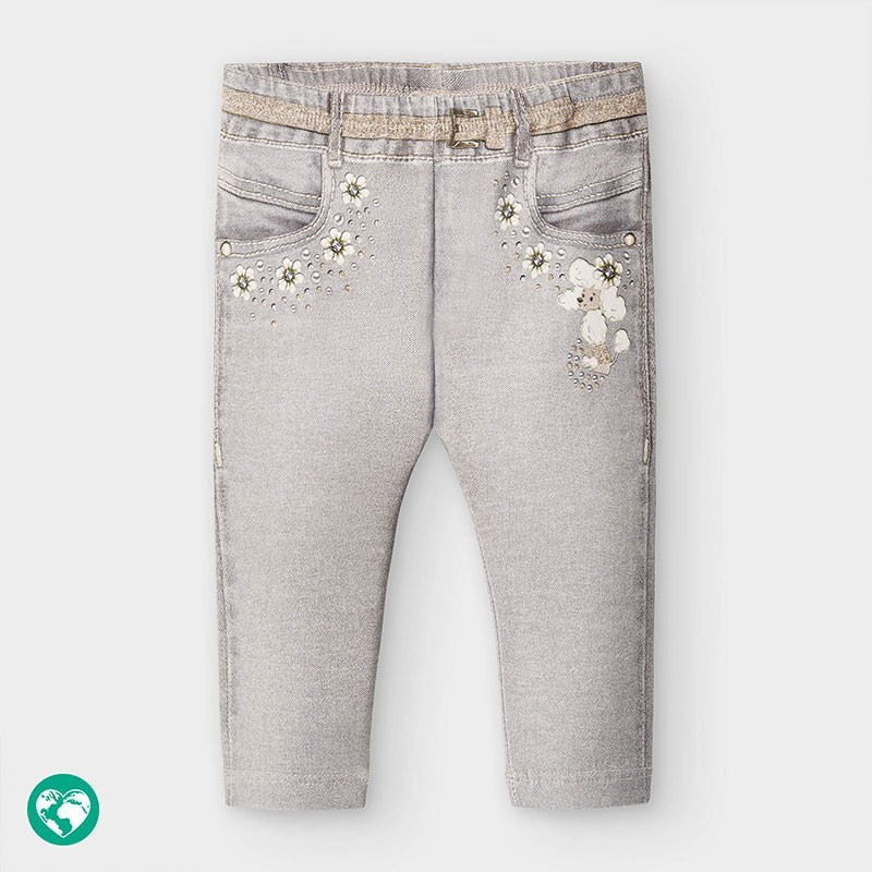 Mayoral - Leggings gris efecto vaquero