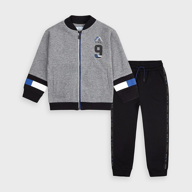 Mayoral - Chandal Completo gris y negro
