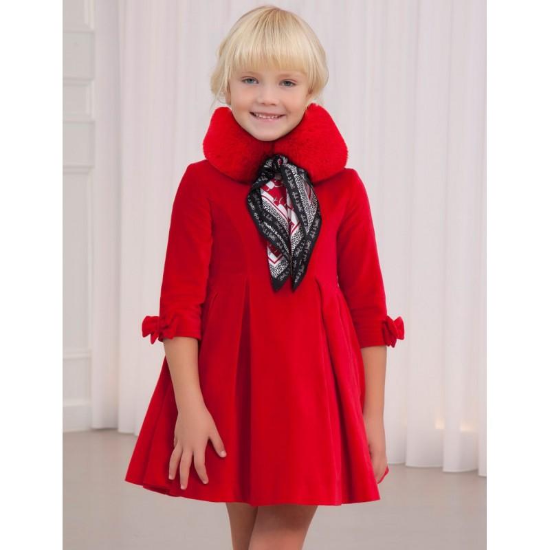 Abel & Lula - Vestido de terciopelo rojo