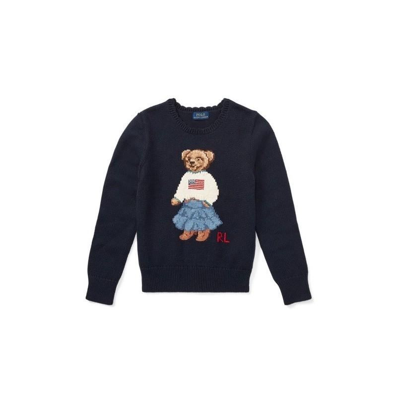 POLO RALPH - Jersey azul marino con oso