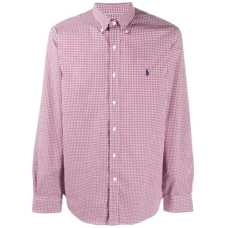POLO RALPH - Camisa granate de vichy