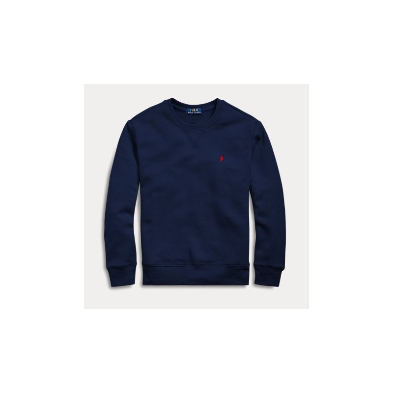 POLO RALPH - Sudadera azul marino de algodón y tejido poplar